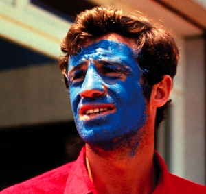 Jean-Luc-Godard-of-Jean-Paul-Belmondo-in-_Pierrot-le-Fou_-1965-